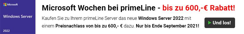 Satte Rabatte auf das neue Windows Server 2022 bei Kauf eines primeLine Server Systems!