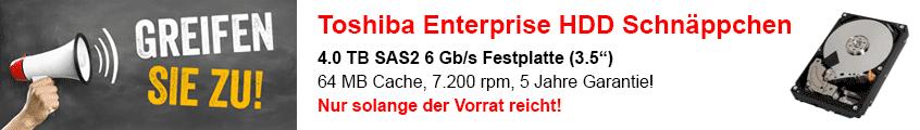 Toshiba Enterprise SAS HDD zum Schnäppchenpreis!