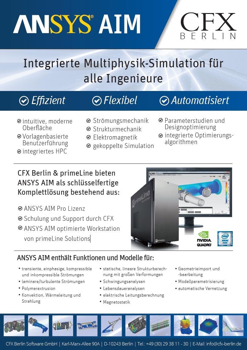 ANSYS AIM Workstation - Integrierte Multiphysik-Simulation für alle Ingenieure