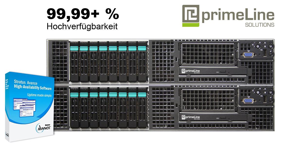 primeLine Hochverfügbarkeits-Lösung auf Intel Server Basis mit Stratus Avance