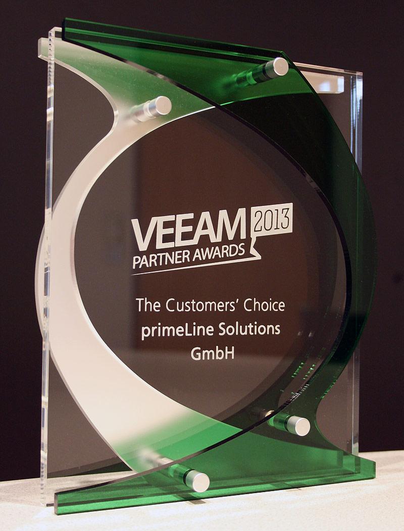 Veeam Partner Award 2013 - primeLine Solutions GmbH